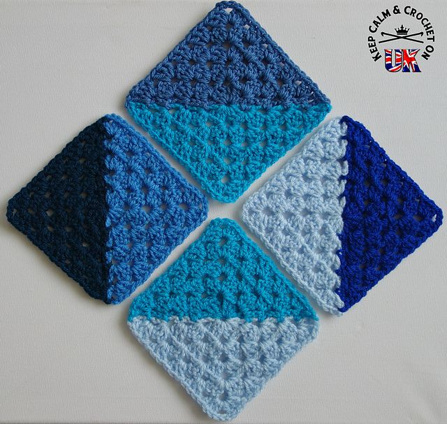 Ravelry: Half and Half Granny Square pattern by Heather C Gibbs