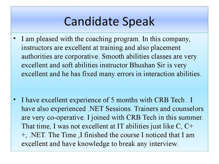 CRB Tech Reviews on Candidate speak Jobs for freshers