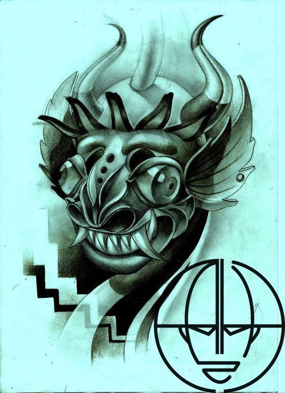 dibujo mascara dela diablada - Buscar con Google