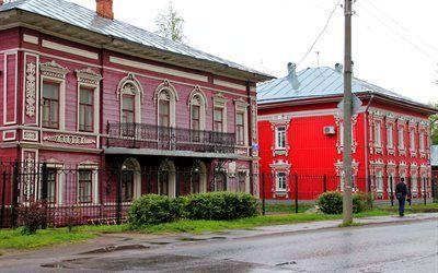 壁紙をダウンロードする 建築, 建物, ロシア, ホーム, 通り, vologda