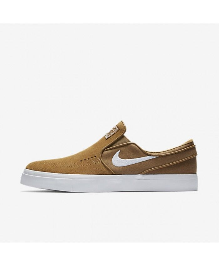 Nike SB Zoom Stefan Janoski Slip-On Golden Beige White 833564-211