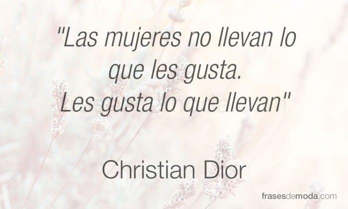 Frase de Christian Dior, diseñador de moda