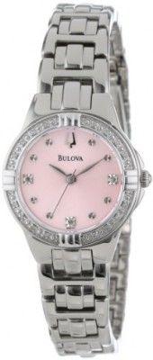 Relógio Bulova Women's 96R171 Diamond Case Watch #Relogio #Bulova