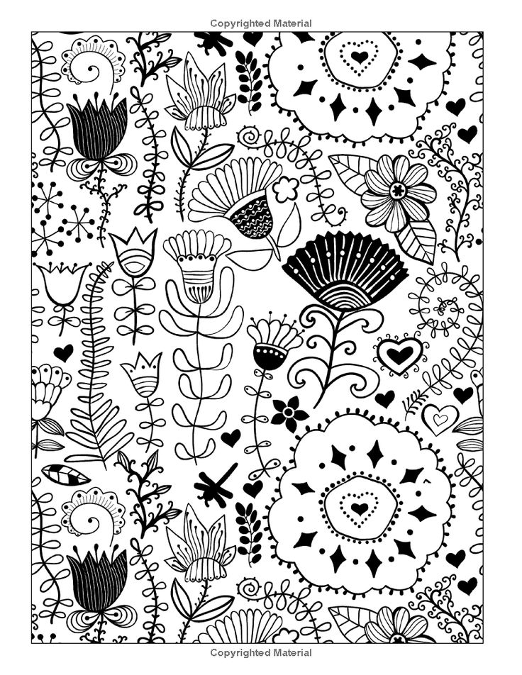whimsical flowers coloring pages - photo#21