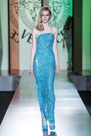 Blue Cutout Tube Dress