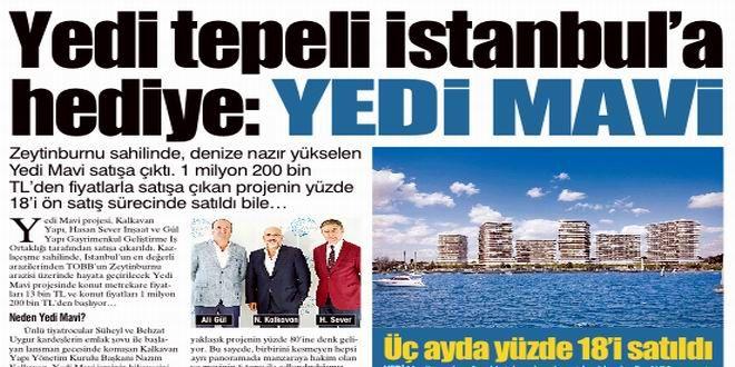 Zeytinburnu sahilinde, denize nazır yükselen Yedi Mavi satışa çıktı. 1 milyon 200 bin TL'den fiyatla...