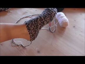 """Häkeln - Socken """"Masche to go"""" Häkelsocken - Veronika Hug - YouTube"""