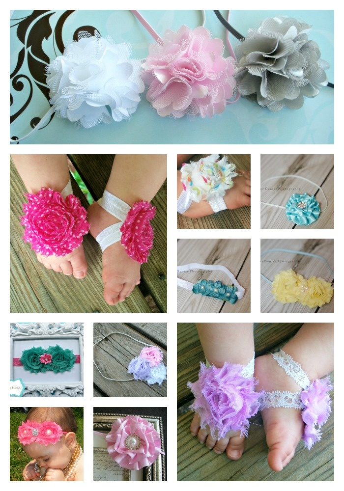 Baby headbands and barefoot sandals