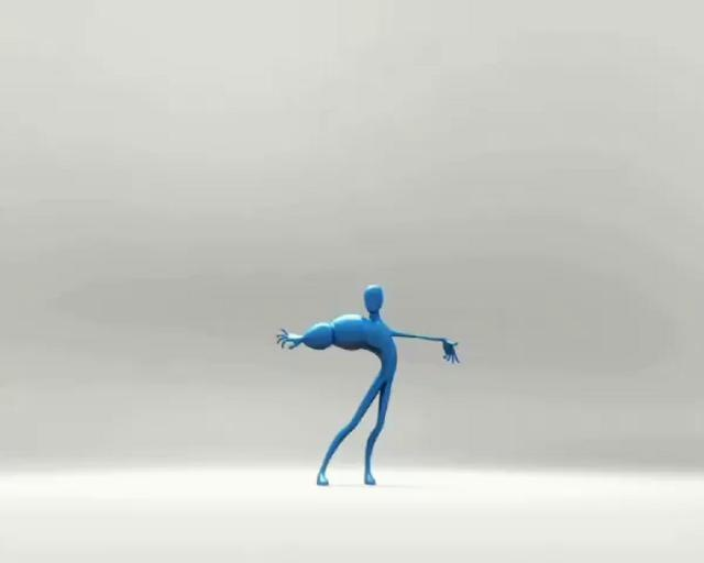Stretchy guy by Scott Pleydell-Pearce. This was a personal animation test i did in Maya using the default model and rig supplied by the setup machine software.