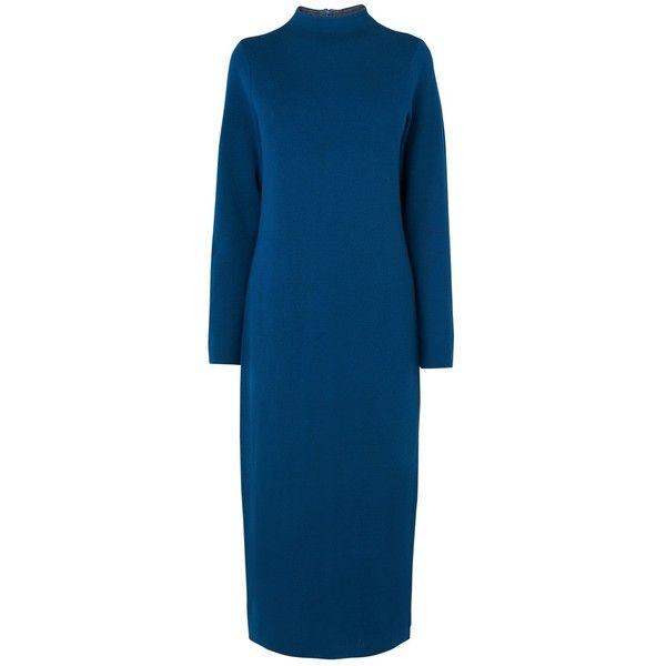 Cobalt blue maxi dress polyvore clothing