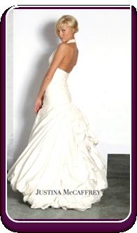 """""""Rosaline"""" Silk Taffeta halter top dropped waist wedding dress http://www.christiannebrunelle.com/English/"""