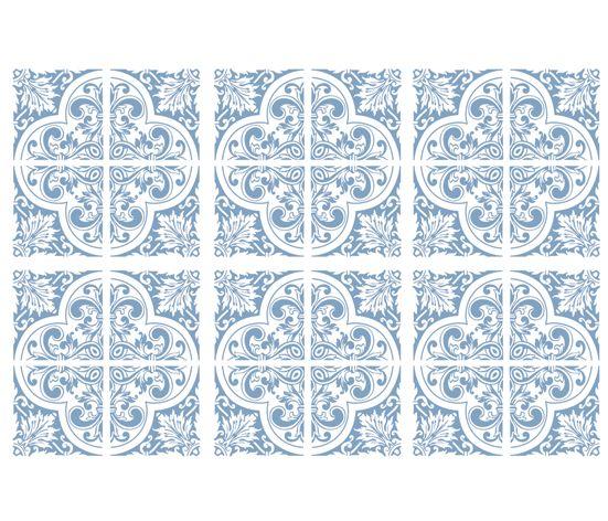 KAKELDEKOR Marockansk 3 ljusblå
