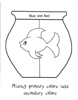 secondary colors fish bowls one fish two fishred fishsecondary colorprimary