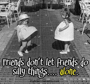 So true! Love the little girls dress on the left (...it kind