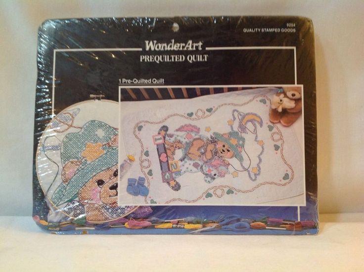 """Wonder Art Prequilted Quilt 'Cowboy Bear' Blanket 30"""" x 42"""" #WonderArt"""