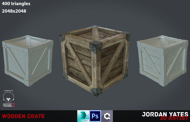 Wooden Crate Asset, Jordan Yates on ArtStation at…
