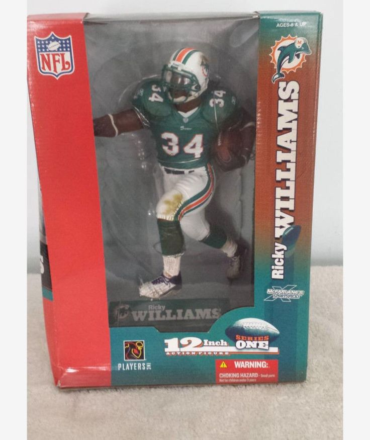 McFarlane Sportspick Ricky Williams 12  Inch Miami Dolphins Mint Blue #MiamiDolphins