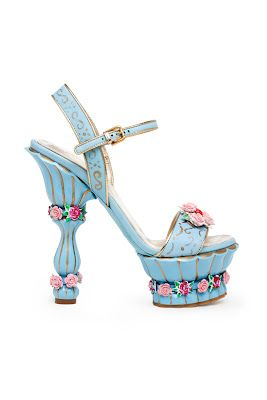 Rococo inspired shoes  Dolce and Gabanna-