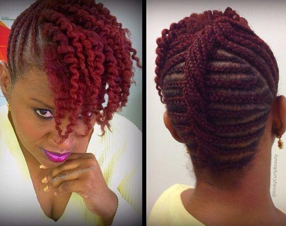 Cornrow Updo Natural Hair Love Your Hair Natural Hair