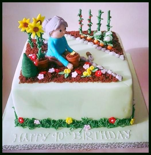 93 best Garden themed cakes images on Pinterest