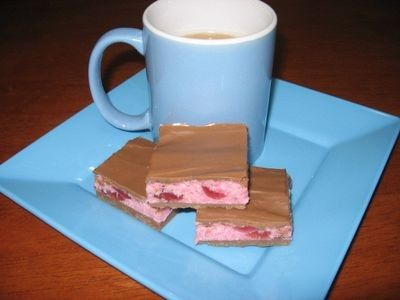 Choc-Cherry Coconut Slice recipe