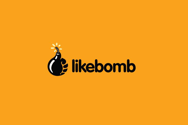 likebomb – Thumbs Up Bomb Logo Design