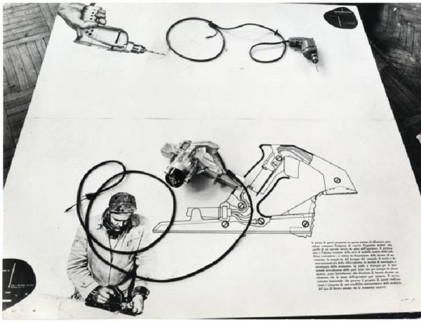 X Triennale - Mostra dell'industial design - Trapano elettrico a mano di alluminio pressofuso smaltato - Leonard Garth Huxtable