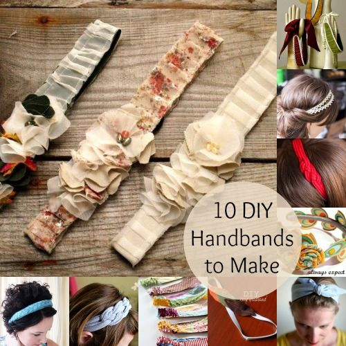 10 DIY headbands to make - I like the reversible one, but I think I'd make it a smidge thinner at the top to better suit my hair...