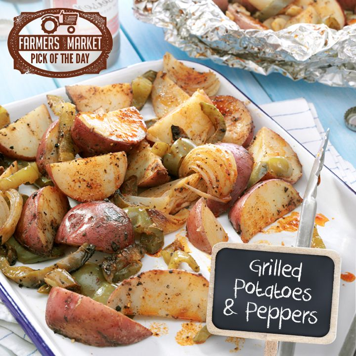 Grilled Potatoes & Peppers Recipe from Taste of Home