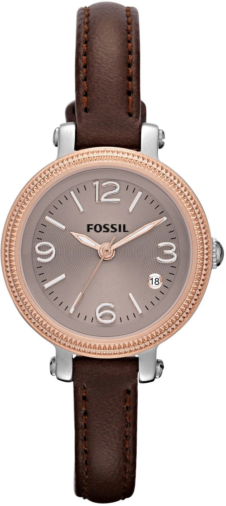 #Fossil #Watch , FOSSIL Heather Mini Three Hand Leather Watch Brown ES3138