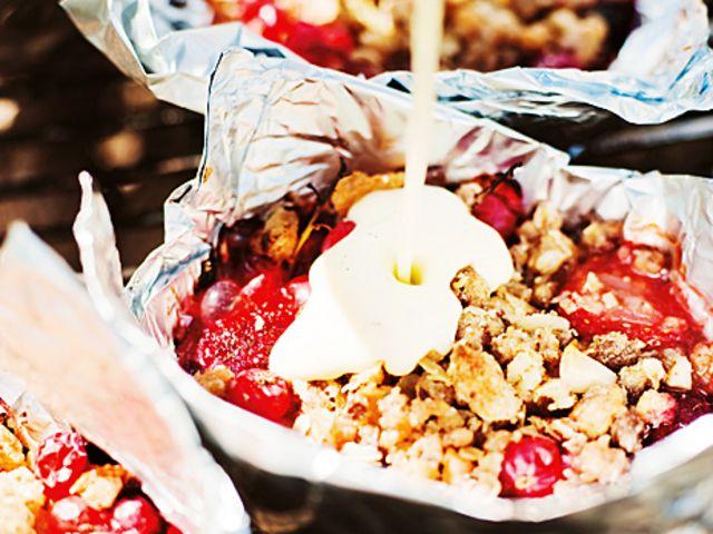 Sommarbär i smulpaj med choklad (kock Paul Svensson)