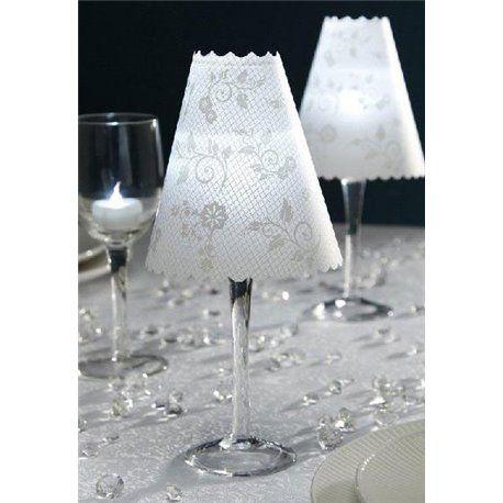 David Tutera Lampeskjermer til vinglass - 12 stk #bordlamper #bryllup