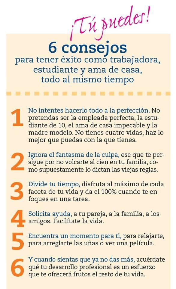 Consejos para disminuir #EstrésDeLaCrianza como trabajadora, estudiante, esposa, madre, ama de casa al mismo tiempo.