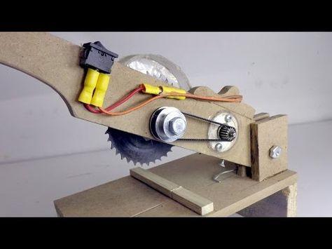 DIY Cordless Circular Saw - table saw turns circular saw - Evyapımı Daire Testere - YouTube