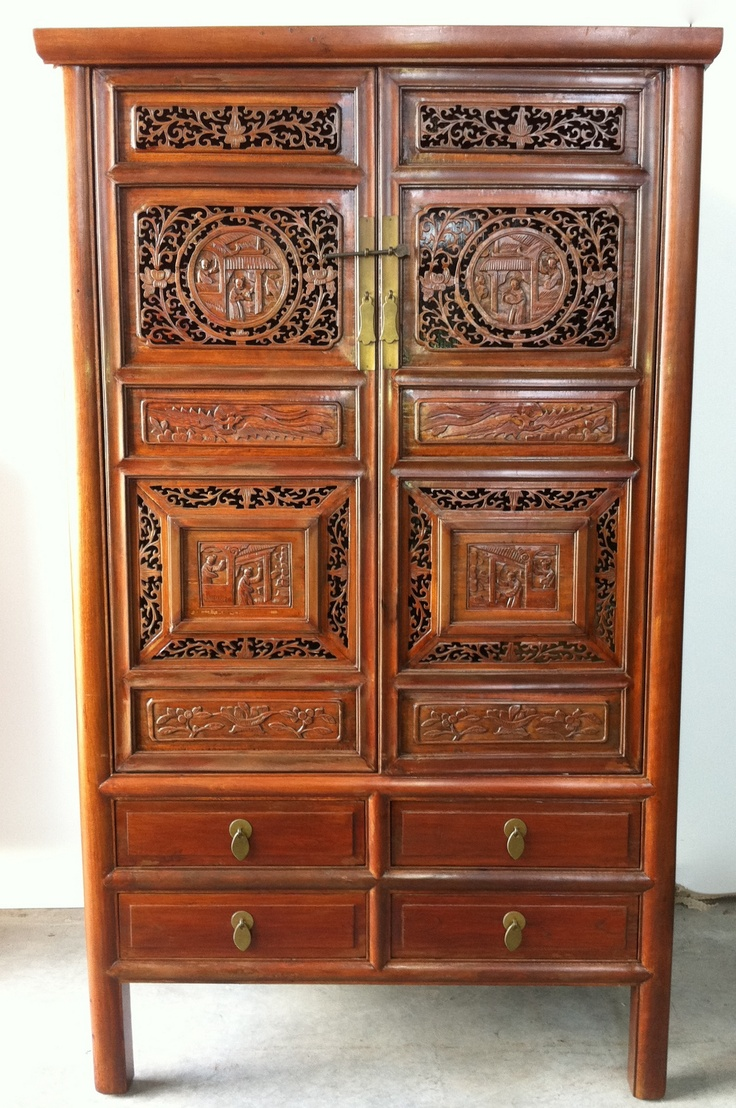 Cabinet With Carved Doors. Asian FurnitureWood FurnitureAsian StyleFurniture  ...