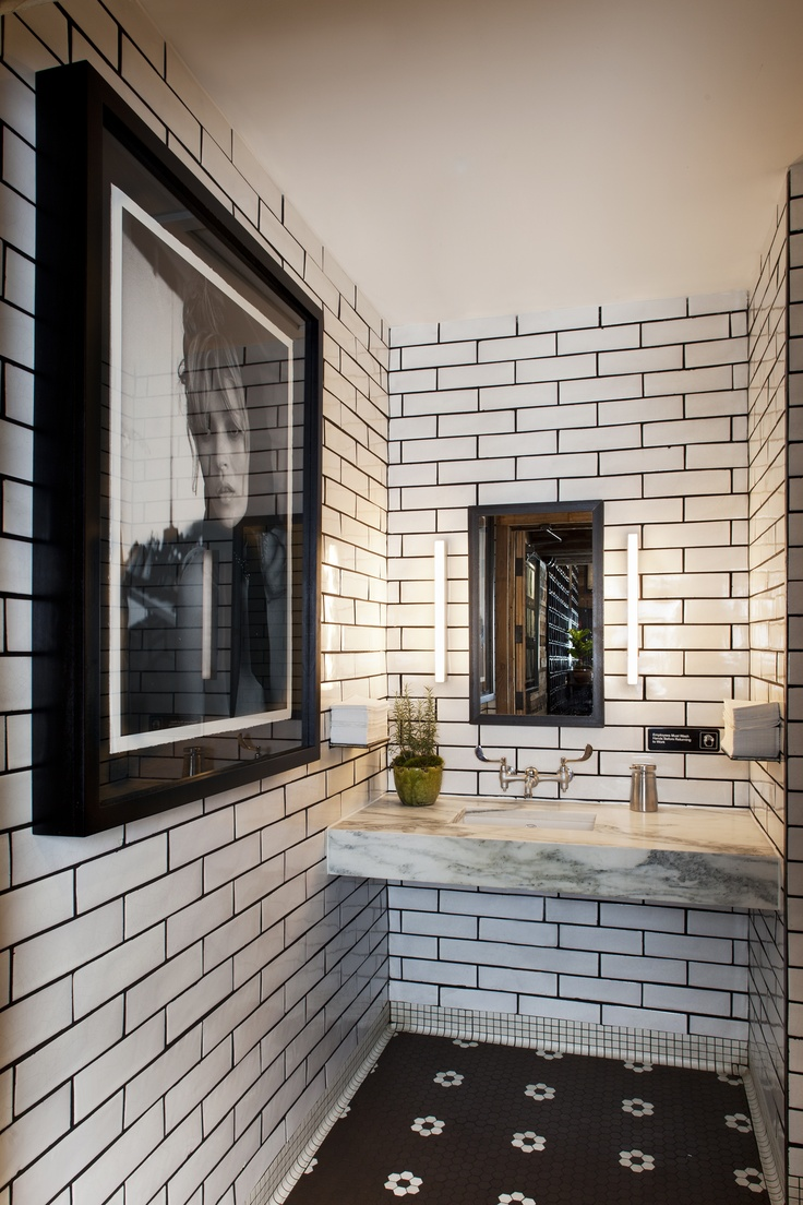 White tiles black grout bathroom -  Bathroom Tiles With Dark Grout