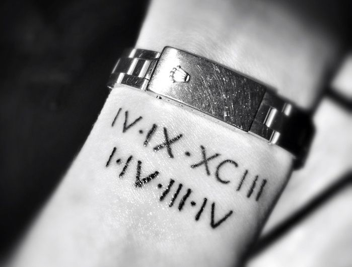Tatouage Chiffre Romain Des Chiffres Et Des Lettres Tattoo Ideas