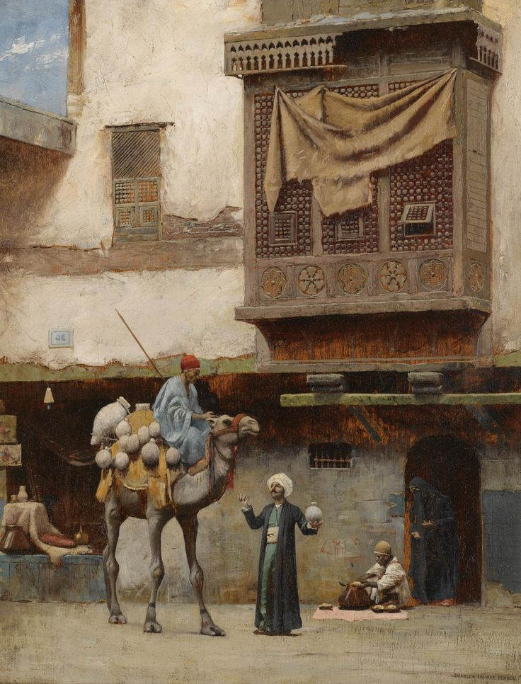 https://flic.kr/p/xnHo5y | Charles Sprague Pearce - Pottery Seller in Old Cairo | [Sotheby's, London - Oil on canvas, 41 x 32 cm]