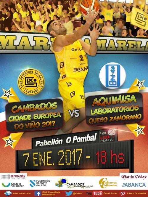 Liga LEB Plata J16 Este sábado comenzamos la 2ª vuelta frente al Aquimisa Laboratorios Queso Zamorano de Zamora, equipo en puestos de descenso. El equipo te espera en O Pombal, no faltes! FORZA XUVEN!!!