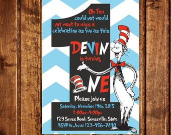 Dr. Seuss / Cat in the Hat Birthday by LittleGermanBoutique