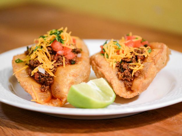 San Antionio-Style Puffy Tacos With Ground Beef Filling