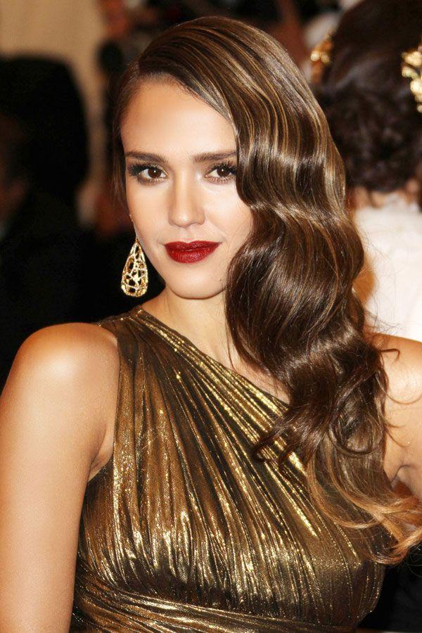 Reddish/Brown Lipstick... | An Old Hollywood take.   - HarpersBAZAAR.com