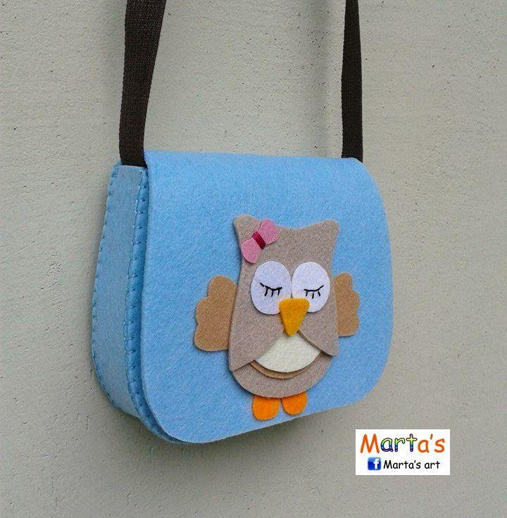 felt owl bag