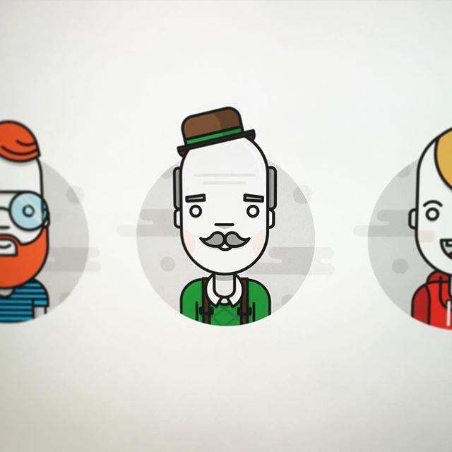 Work in progress on next team icon #icons #team #design #illustration #characterdesign #flatdesign #grandpa #oldman #work #workinprogress #avatar #icon