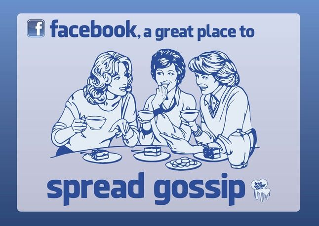Image result for pictures of online gossip
