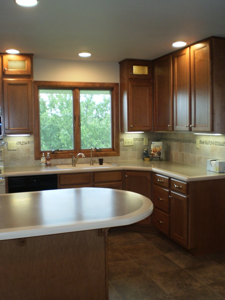 Countertop Edge Banding : Curved Corian countertops with edge-banding Babler Kitchen and Bath ...