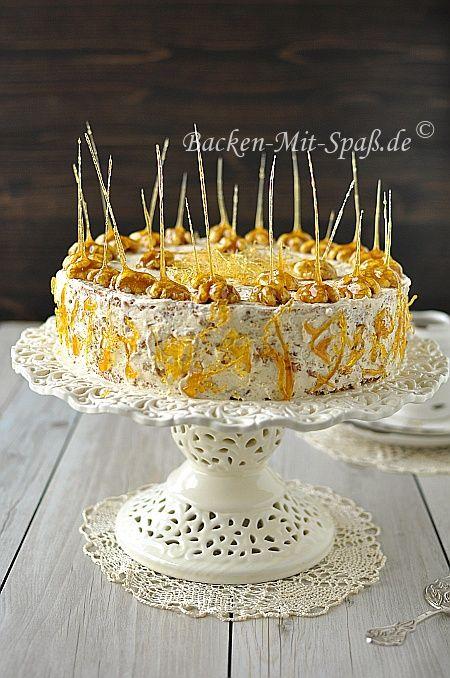 Walnuss- Karamell- Torte