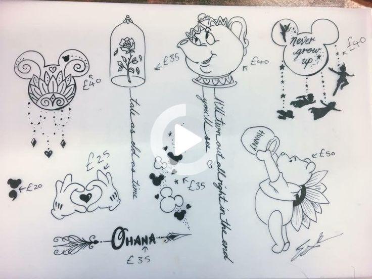 Small Acid Tattoo: Disney Tattoos #tattooideas #tattoomodels In 2020