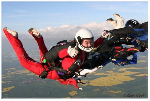 University of Nottingham Skydive Club www.skysoc.com  Nice shot Chris Cook!