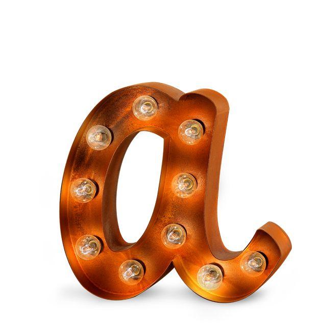 Letra decorativa con bombillas acabado efecto industrial. #letras #decoracion #letrasdecorativasconbombillas #letrasconluz